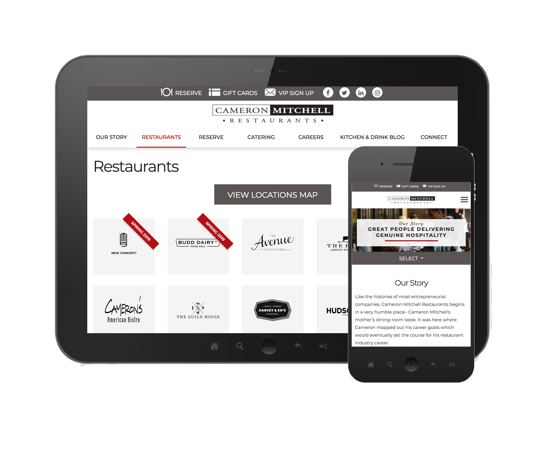 Cameron Mitchell Restaurants Website Design Strategy
