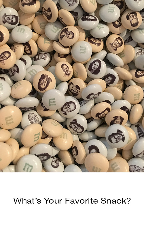 What's Your Favorite Snack? photo with M&Ms candies