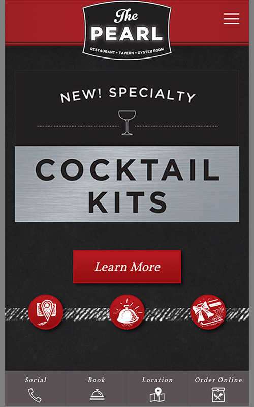 Screenshot of mobile view of Cocktail Kit promotional ad